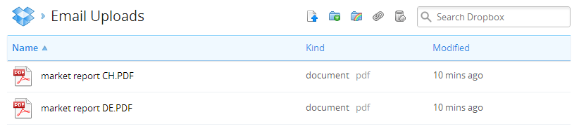 Upload Files to Dropbox | Boomerang Notification Services