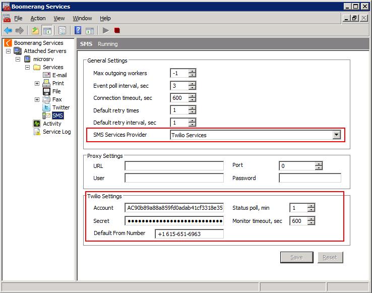 Configure SMS Services   Boomerang Notification Services